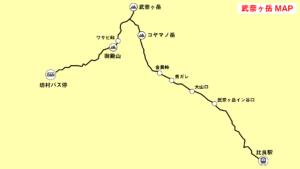 武奈ヶ岳登山マップ